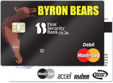 Byron Bear Debit Card