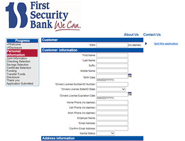 online account enrollment form
